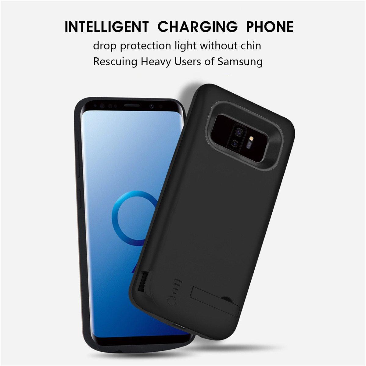 Funda Samsung Galaxy S9 Plus Bateria, LifeePro 6000mAh Recargable Externa Portátil Batería Cargador Pack Power Bank Ultra Fina Integrada Recargable de ...