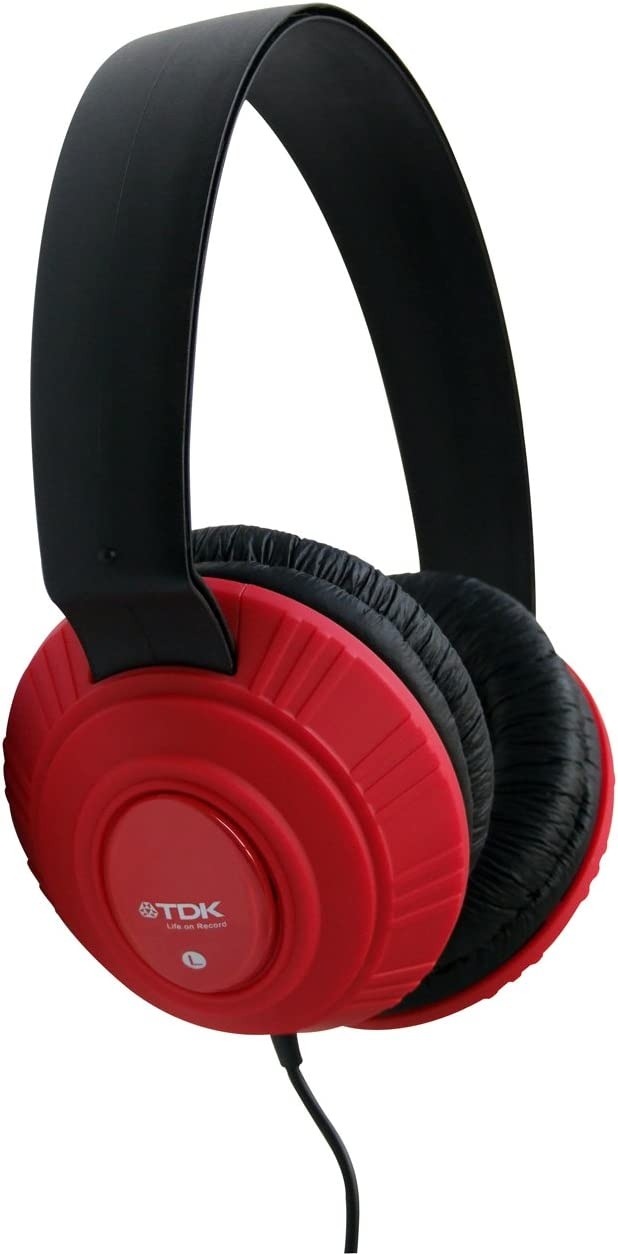 TDK T61992 MP100 Stereo Headphones – Red by TDK