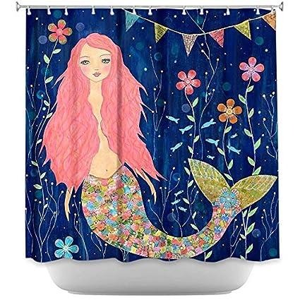 Amazon.com: DiaNoche Designs Designs Shower Curtains, 71 x 74 ...