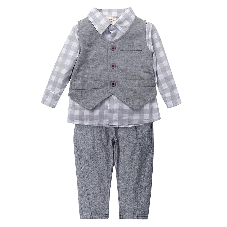 Amazon Touchme New Newborn Baby Boy Grey Waistcoat Pants