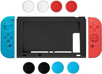 Nintendo Switch Case, Chickwin Silicona suave duradera flexible antideslizante funda protectora de silicona de silicona para Nintendo Switch (Azul-Rojo): Amazon.es: Electrónica