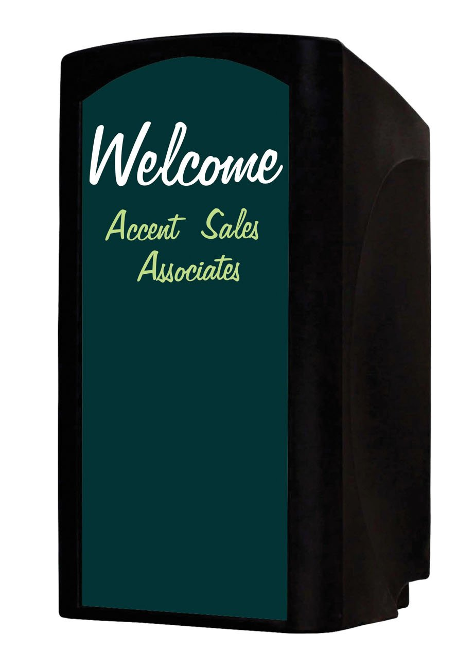 Audio Systems Group Accent Majestic Valet Presentation Lectern Podium, Black/Green Chalk Board