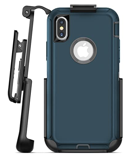 competitive price 29de0 11968 Encased Replacement Belt Clip for Otterbox Defender Case - iPhone X/iPhone  Xs (case not Included) Secure-fit Rubberized Holster (Matte Black)