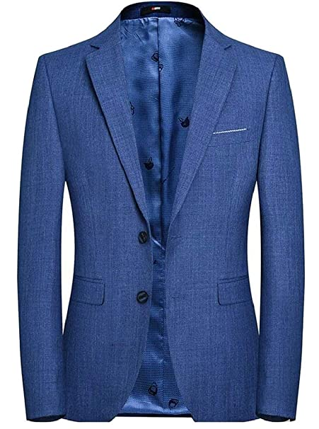 Blazer Men Coat Blazer Elegante De La Smoking Modernas Casual Boda Slim Fit  Vintage Chaqueta De Traje De Manga Larga para Hombre Chaquetas De Traje  ... cf039c06432