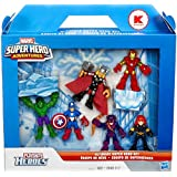 Marvel Playskool Super Hero Adventures Exclusive Mini Figure 7-Pack Ultimate Super Hero Set [Hulk, Iron Man, Thor, Captain America, Black Widow & Hawkeye]