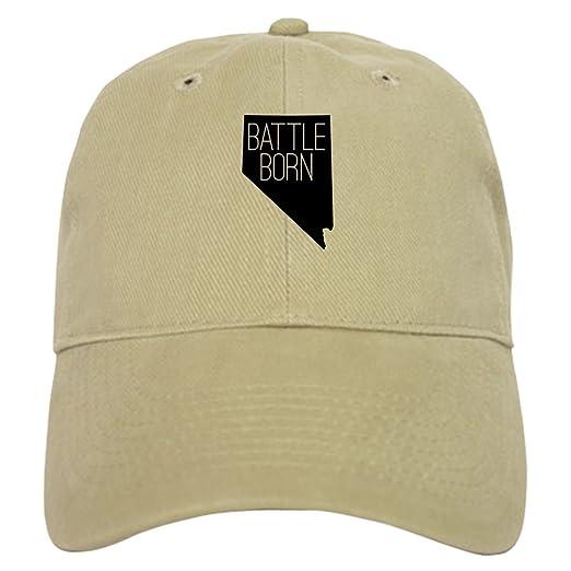 59ea8a7ee Amazon.com: CafePress Nevada Battle Born Baseball Cap with ...