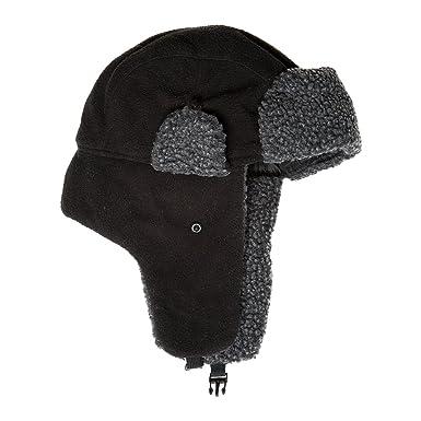 334d454806581e Accessoryo Men's 60cm Black Fleece Trapper Hat: Amazon.co.uk: Clothing