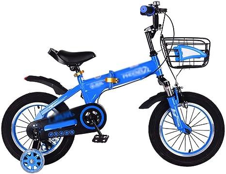 Bicicletas infantiles Bicicleta Triciclo Infantil Bicicleta de Estudiante Cuadro de Acero con Alto Contenido de Carbono con Cesta Cuadro con Rueda Auxiliar: Amazon.es: Deportes y aire libre