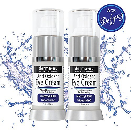 Anti Aging Eye Cream – 2 pack - Natural Skin Care for Dark Circles Under Eyes, Puffiness, Wrinkles and Bags. Highly Effective, Concentrated Formula enriched with Retinol, Peptides & Vitamin C - Antioxidant Eye Cream