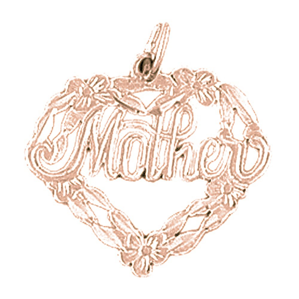 Rose Gold-plated Silver 22mm Mother Pendant