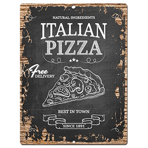 Italian Pizza Chic Sign Rustic Shabby Vintage style  Kitchen Bar