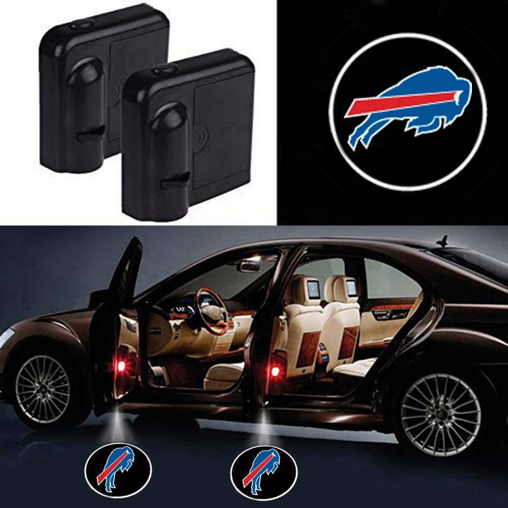 2pcs Newest Car Door Led Welcome Laser Projector Car Door Courtesy Light Suitable Fit for All Brands of Cars with Oakland Raiders Logo