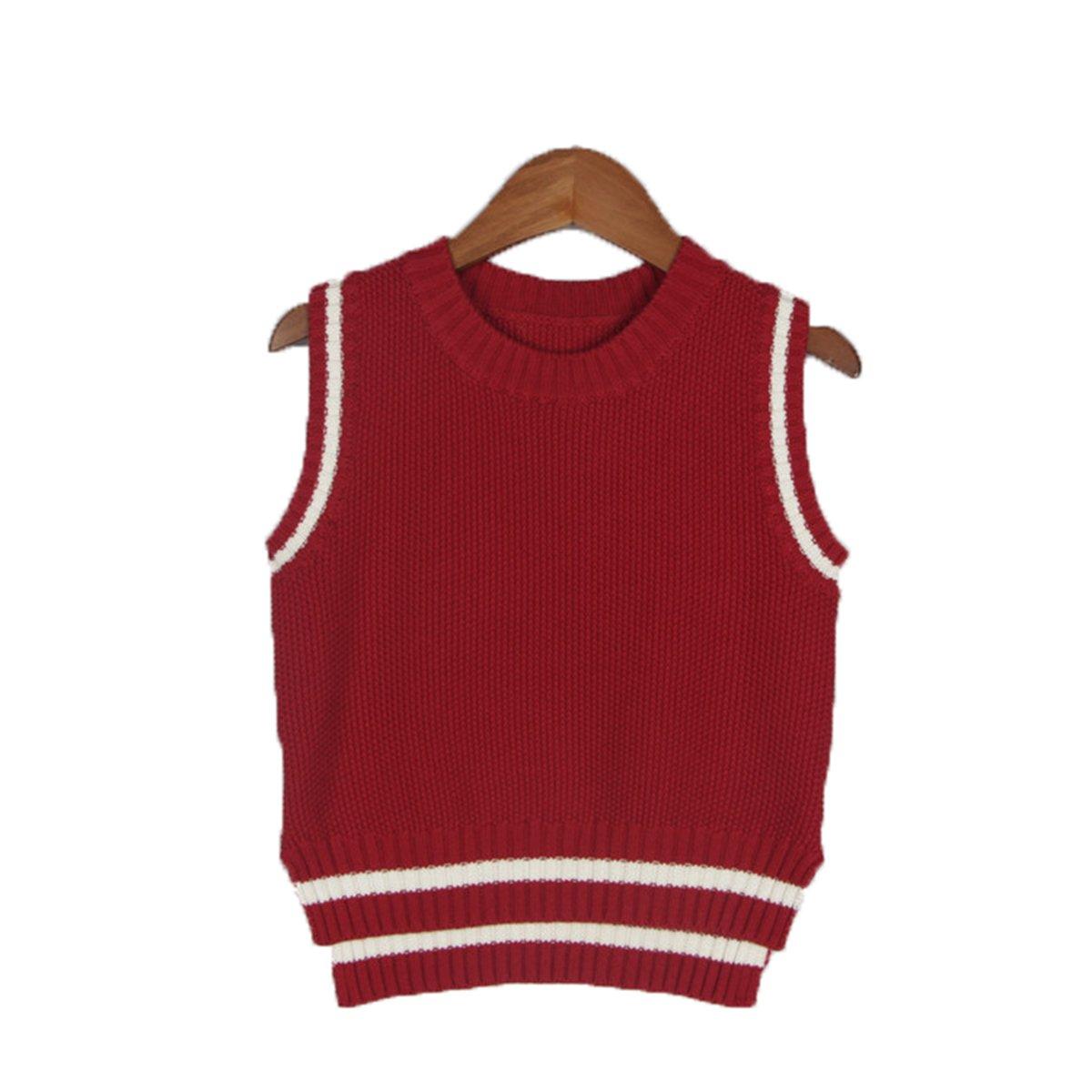 Lemonkid Newly Fall Children Kids Knit Sweater Vest Pullover Sleeveless Waistcoat 130cm/fit 5-6 T