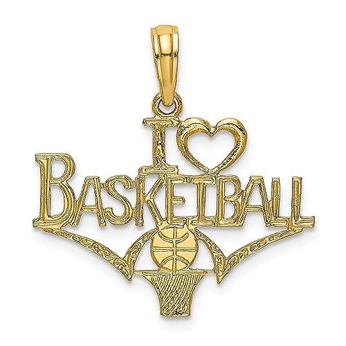 Abalorio de balón de baloncesto con forma de corazón de oro ...