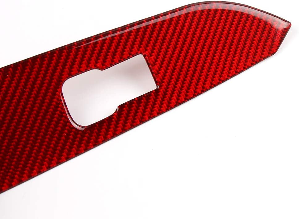 Charminghorse Carbon Fiber Car Door Panels Stickers Panel Guard Protector Decals for Ford Mustang 2015 2016 2017 2018 2019 Accessories 2 Pieces Red-Front Door