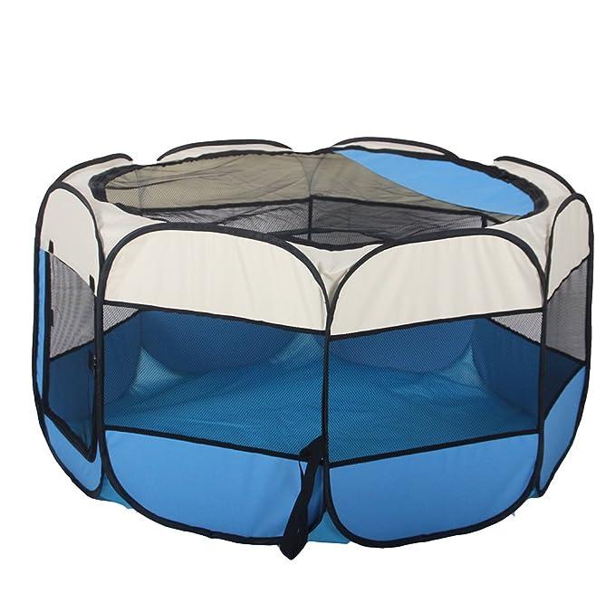 Campfine Plegable Portátil Parque de Mascotas Uso en Interiores/Exteriores -8 Panel, Resistente al Agua ... (M:73*73*43CM): Amazon.es: Productos para ...
