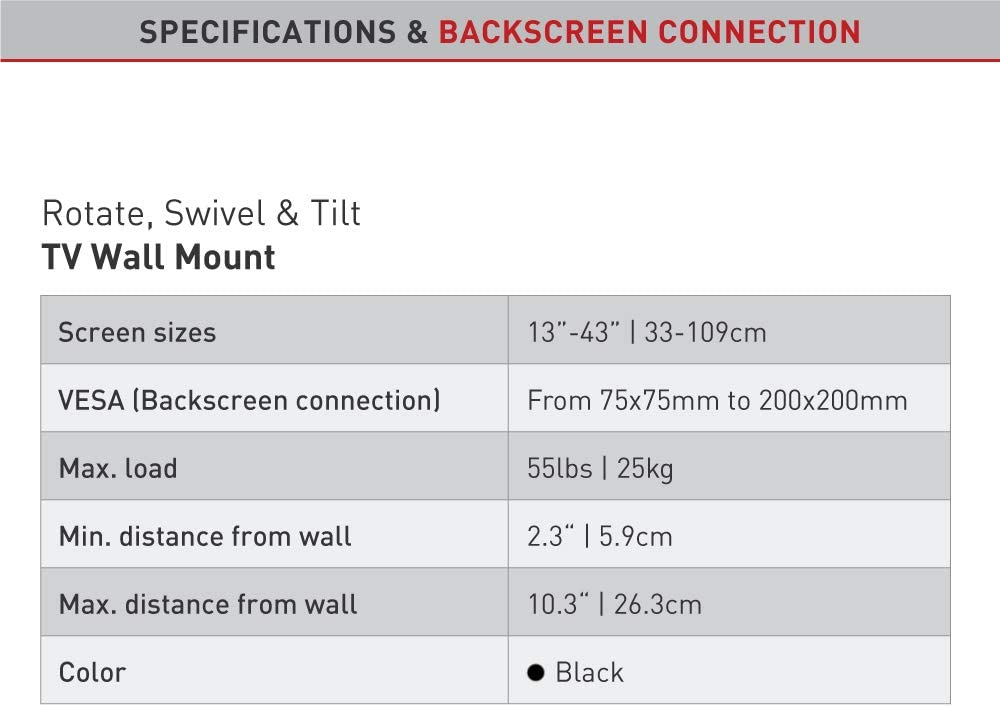 Barkan 2300.B - Soporte de televisión para televisor, Color Negro: Amazon.es: Electrónica