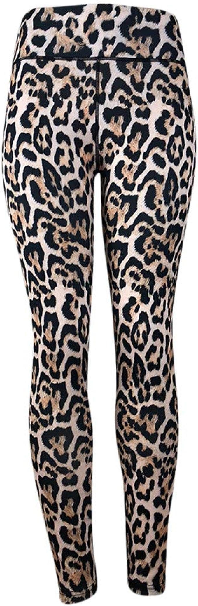 Pantalones Yoga Mujeres Estampado de Leopardo de Moda, Mallas ...