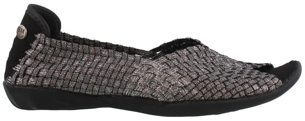 Bernie Mev Dream Black Shimmer Womens Slip-On Size 40M