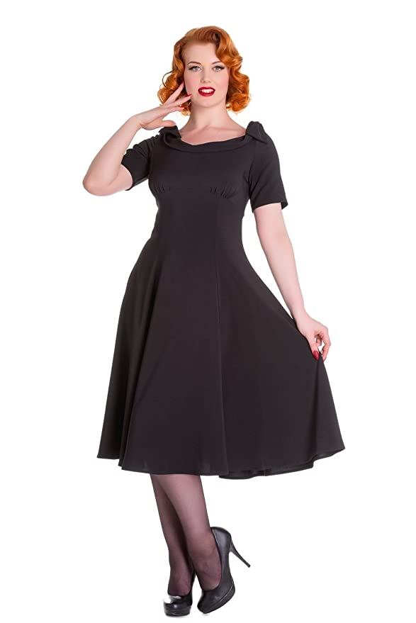 1940s Style Dresses and Clothing Hell Bunny Bianca Vintage Style 50s Dress $34.99 AT vintagedancer.com