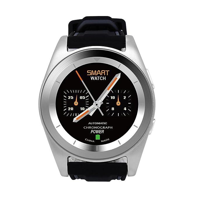DT No.I G6 Bluetooth 4.0 Frecuencia Cardíaca Smartwatch Llamar Mensaje Remedio Pedómetro Monitor de sueño Remedio Sedentario Remoto Música y Cámara ...