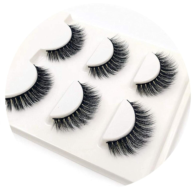 Amazon com : 3 Pairs natural false eyelashes thick makeup real 3d