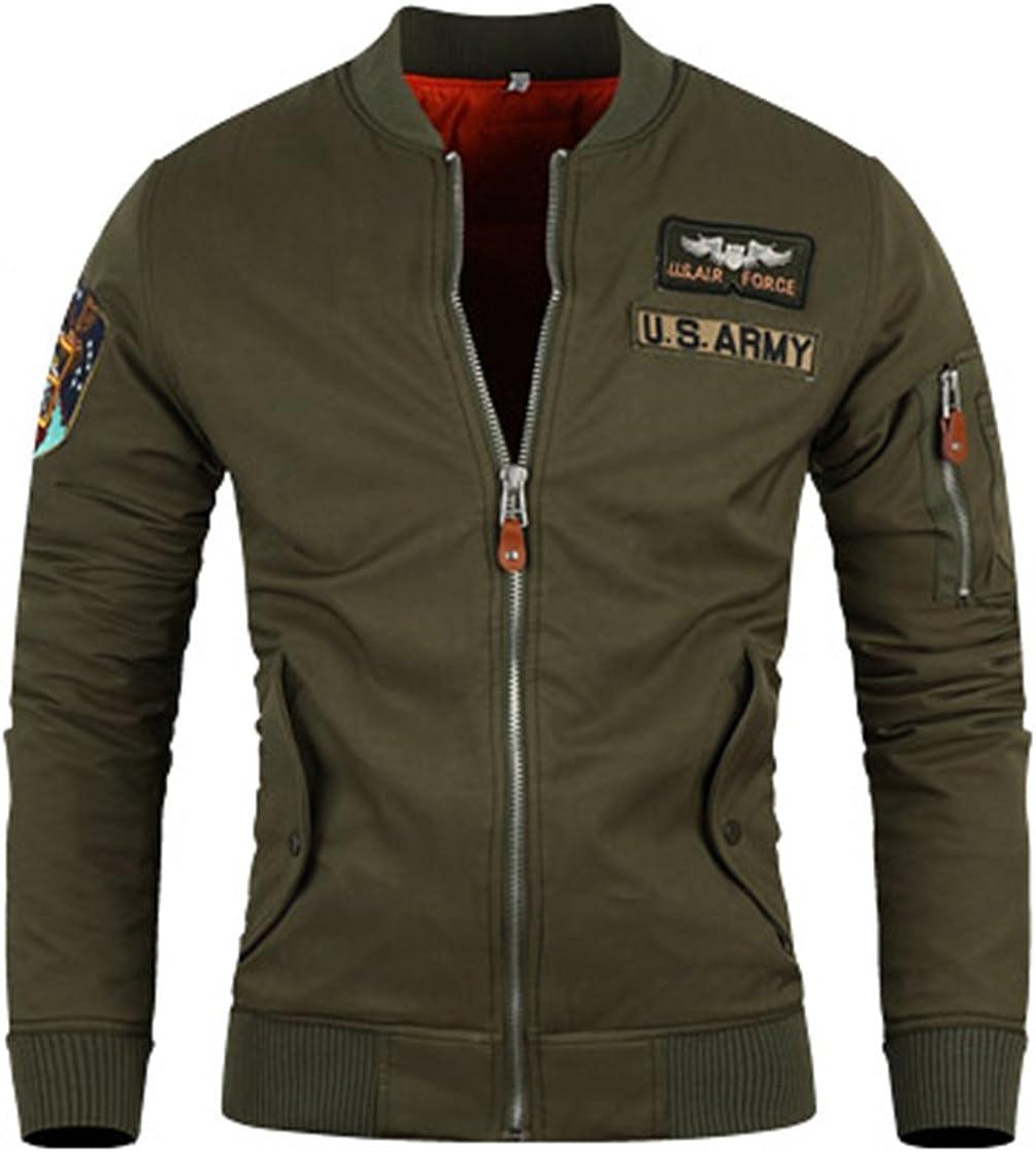 Mens Premium Orange Army Fligh Air Force Jacket Zipper Jumper