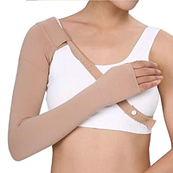 73289d256f Lolicute Post Mastectomy Compression Sleeve, Anti Swelling Support Edema  Swelling Lymphedema Medical Grade Arm Sleeve