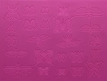 Amazon.com: Beautiful Butterflies Large 3-D Silicone Lace Mat by ...