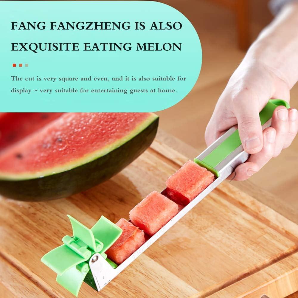novedad de cocina cuchillo de fruta Cortador de sand/ía de acero inoxidable cortador de sand/ía herramienta de regalo