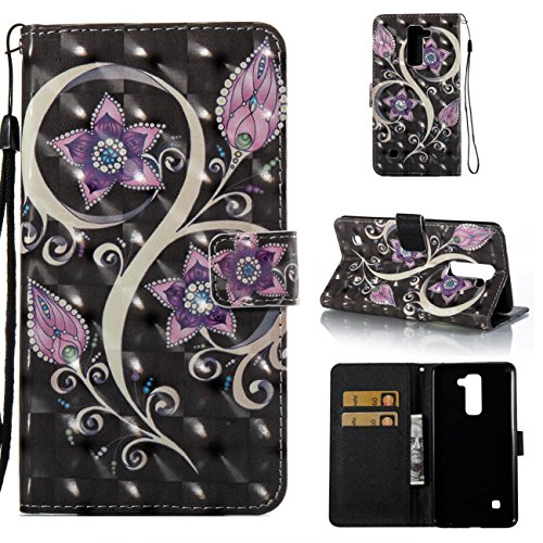 2 Leather Black Wallet (Lg Stylo 2 Case,Durable PU Leather Wallet Cover Lightweight Full Protective Case Shockproof and Scratch Resistance Case with Credit Card Slot and Strap for Lg Stylo 2/Lg Stylus 2/Ls775-Purple)
