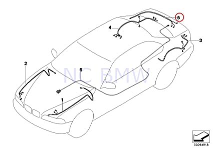 Amazon Com Bmw Genuine Repair Wiring Set For Trunk Lid Automotive