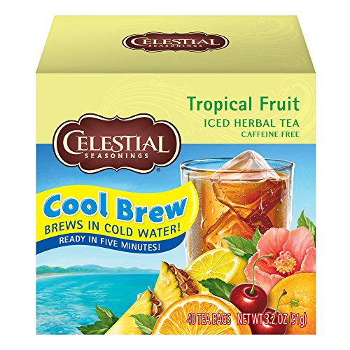 - Celestial Seasonings Cool Brew Iced Tea, Tropical Fruit, 40 Count per box, Pack of 6