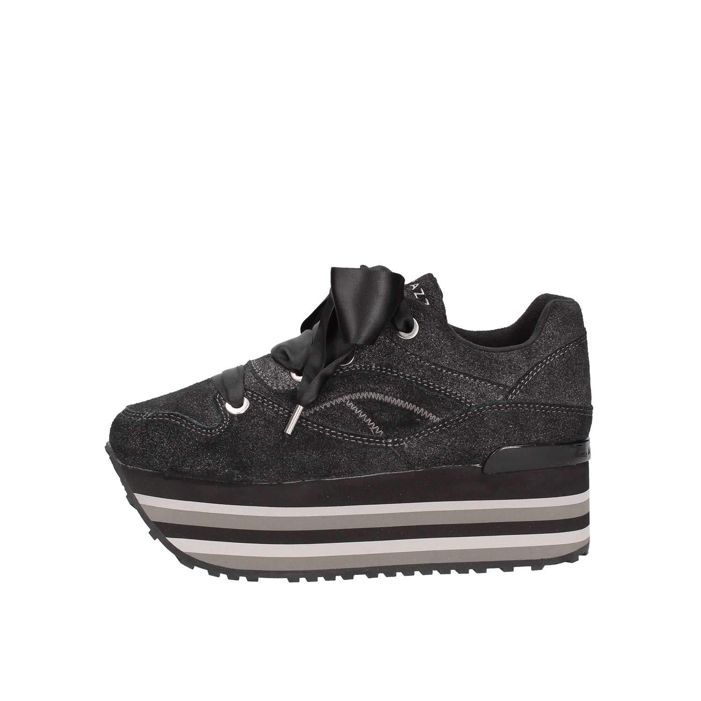 Apepazza Schuhe Frau niedrige Turnschuhe mit Plattform RDP01   Metal Rosalinda