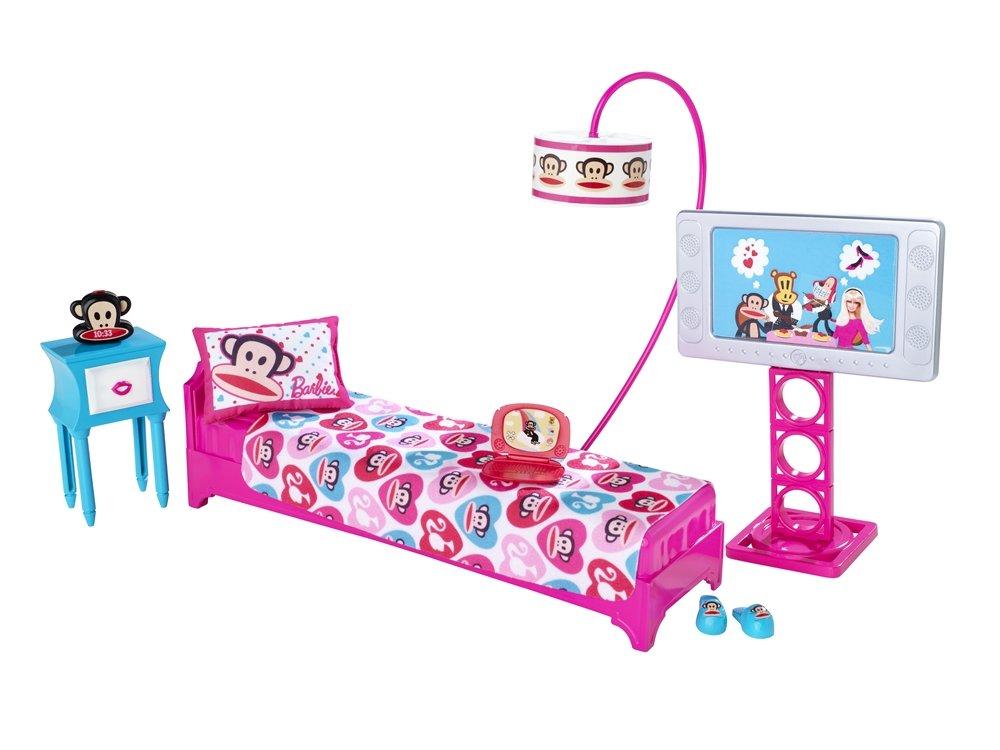 Amazon.com: Barbie Loves Paul Frank Bedroom Playset (Julius the ...