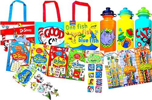Dr. Seuss Back to School Children's Reusable Lunch Tote Bags with Goodies