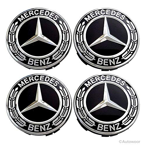 Class V Cars Benz Mercedes (Autowoor Black Wheel Center Hub Caps Mercedes Benz,75mm/3 Inch Hub Cap Cover Car Fit for Mercedes Benz All Models with (4 pcs))