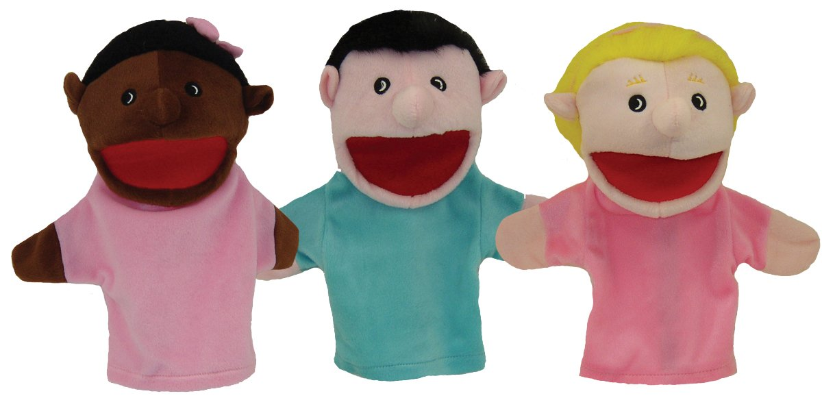 Get Ready Kids Multicultural Children Puppets, Set of 3