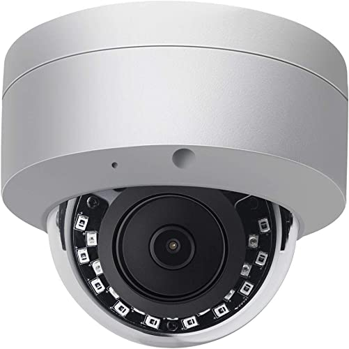 8MP POE IP Camera Outdoor Dome,Compatible with Hikvision,Ultra 4K HD Security Camera,82ft Night Vision,Built in Audio Input,SD Slot,Support Onvif,H.265,IP66 Waterproof VK-IMD38-AS 2.8mm