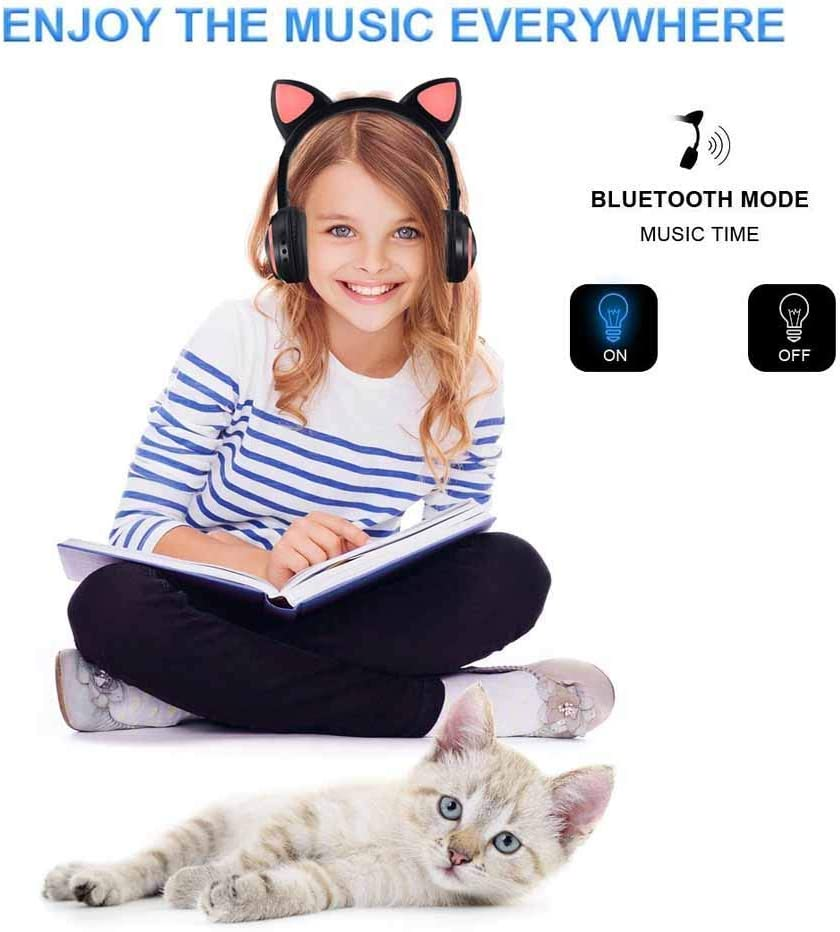 Luckyu Wireless Bluetooth Cat Ear Headphones