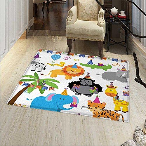 Kids Birthday Customize Floor mats Home Mat Jungle Wild Safa