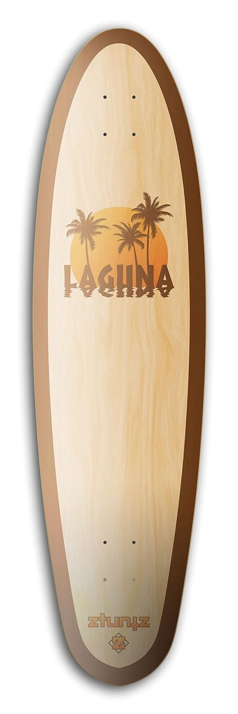 9.65 x 37-Inch Natural//Brown//Orange ztuntz skateboards Sidewalk Rider Laguna Long Skateboard Deck