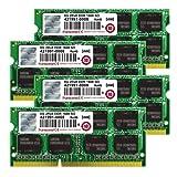 Transcend JetMemory 32 GB DDR3 1600 SO-DIMM 2Rx8 TS32GJMA524H (8GB x 4 | Mac Compatible) 32 DDR3 1600 (PC3 12800) DDR3 1600 TS32GJMA524H