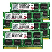 Transcend JetMemory 32 GB DDR3 1600 SO-DIMM 2Rx8 TS32GJMA524H (8GB x 4 | Mac Compatible) 32 DDR3 1600 (PC3 12800) DDR3 1600 TS32GJMA524H