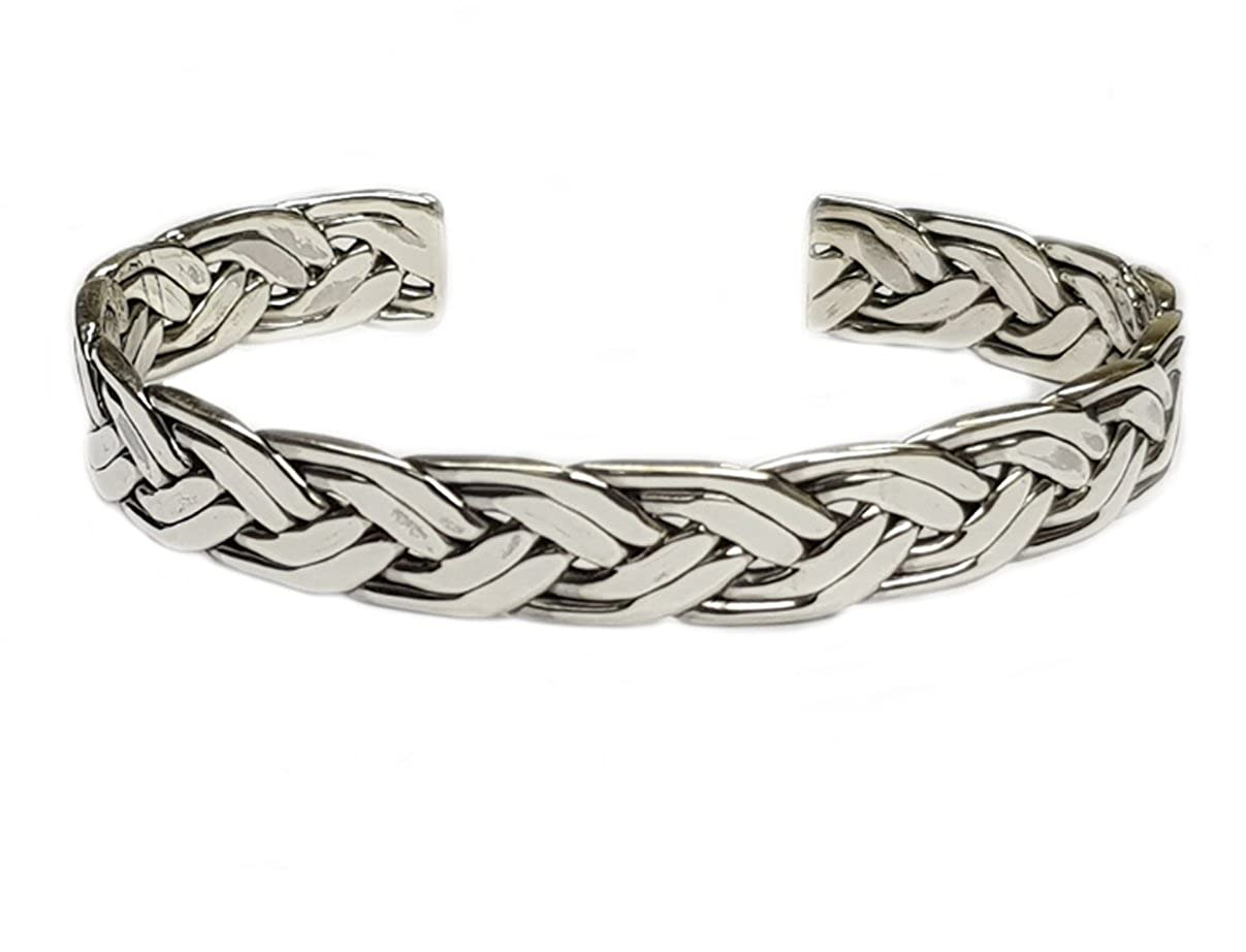 Men's Solid 925 Sterling Silver Bangle Open Cuff