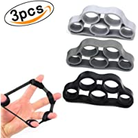 Finger Exerciser Hand Grip Strengthener Trainer Squeeze & Flex Finger Extension Trainer for Training Physical Rehabilitation Relief Unisex,Set of 3