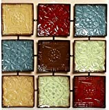 "Hosley's 24.75"" Square Multi Colored Metal Wall Decor Placque. Abstract. Ideal Gift for Home, Weddings, Party. Home Office (Kitchen)"