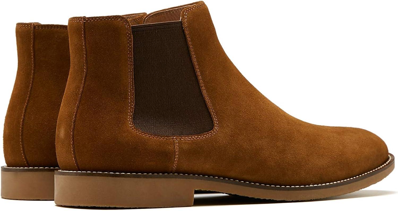 BURTENSE Mens Leather Chelsea Boots