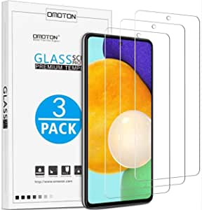 For Samsung Galaxy a51, Screen Protector (3 Packs) Scratch Resistant, Easy-Install, Bubble Free, Tempered Glass, OMOTON.