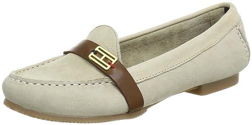 Tommy Hilfiger KELLY 5 A - Mocasines de cuero mujer, color beige, talla 36: Amazon.es: Zapatos y complementos